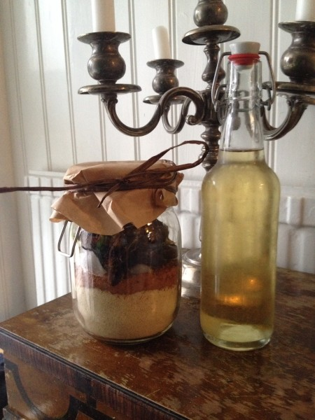 Raw cookie in a jar